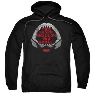 Jaws/This Shark Adult Pull-Over Hoodie in Black