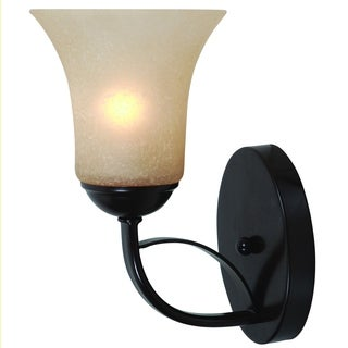 Oil Rubbed Bronze Finish Wall Sconce Light Fixture with Scavo Glass