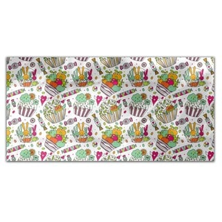 Colorful Cup Cake World Rectangle Tablecloth