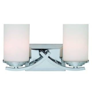 Y-Decor Brina 2-light Chrome Vanity Lighting
