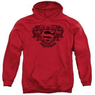 Superman/Superman Dragon Adult Pull-Over Hoodie in Red