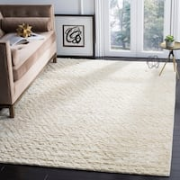 Safavieh Handmade Manhattan Ivory Wool Rug - 6' x 9'