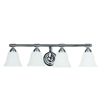 Bentley Polished Chrome Finish 4-light Vanity Light Fixture with Frosted Glass