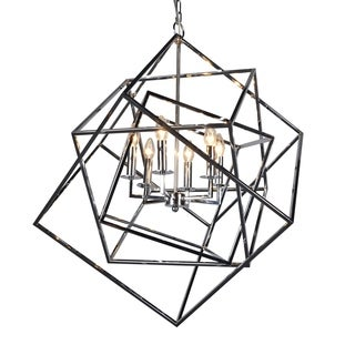 Y-Decor Electrified 6 Light Chandelier in Chrome