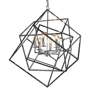 Y-Decor 'Electrified' 6-light Chandelier in Polished Chrome Finish|https://ak1.ostkcdn.com/images/products/11860366/P18760420.jpg?impolicy=medium
