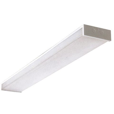 AA Warehousing White Acrylic and Steel 48-inch Double-bulb Fluorescent Utility light