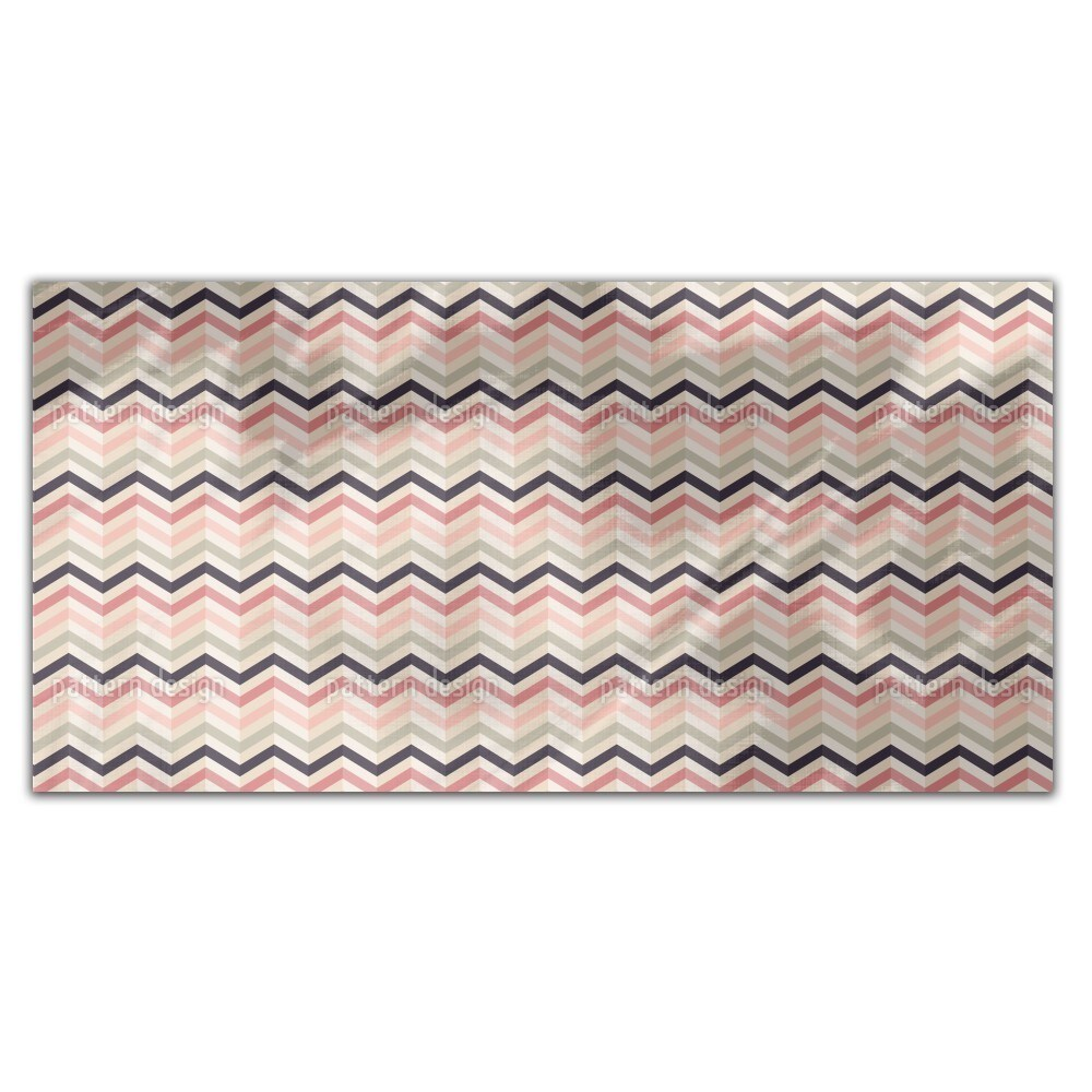 Uneekee Chevron Blush Rectangle Tablecloth (Large), Multi...