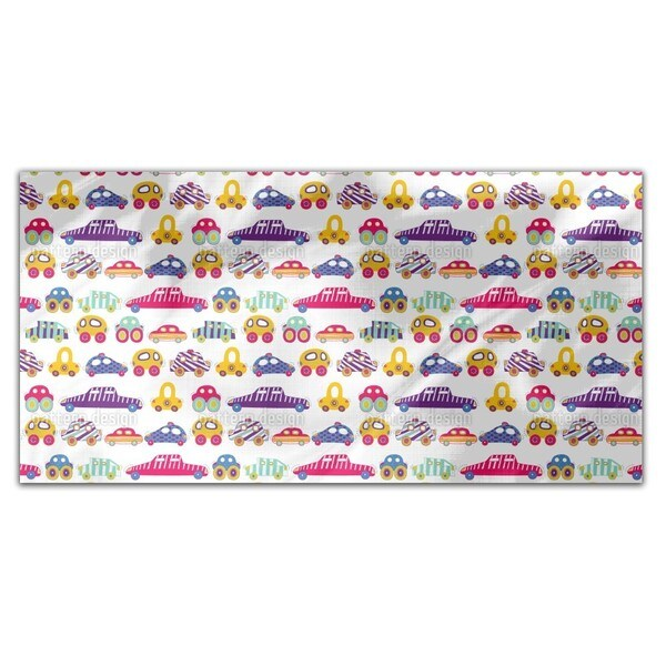 Car Convoy Rectangle Tablecloth