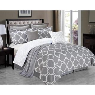 Belmore Grey 8-piece Comforter Set