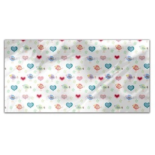 Birds and Hearts Rectangle Tablecloth