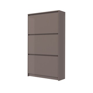 Bright White High Gloss 3-Drawer Shoe Cabinet