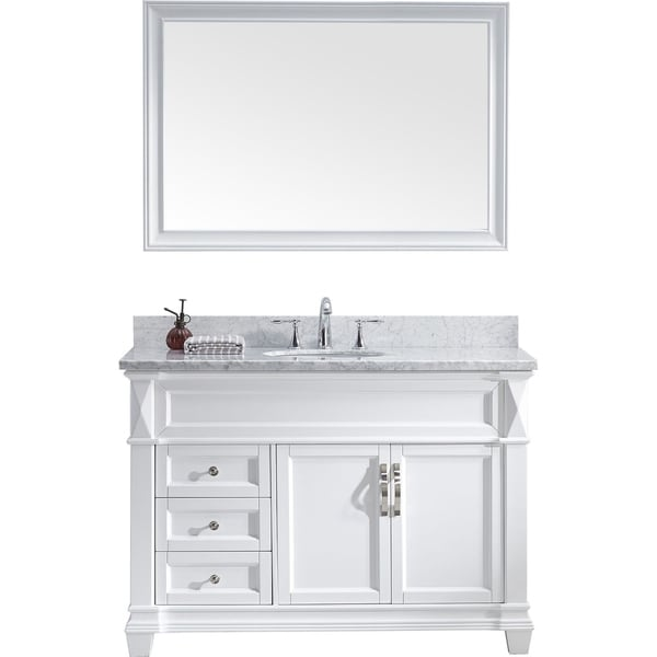 Virtu USA Victoria 48-inch Single Bathroom Vanity Set with Faucet
