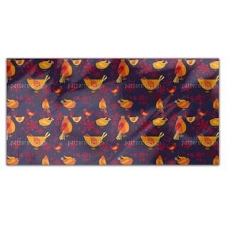 Bird Meeting Rectangle Tablecloth