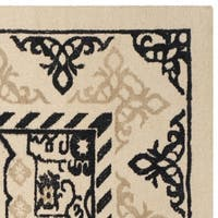 Safavieh Handmade Restoration Vintage Ivory / Charcoal Wool Rug - 6' x 6' Square