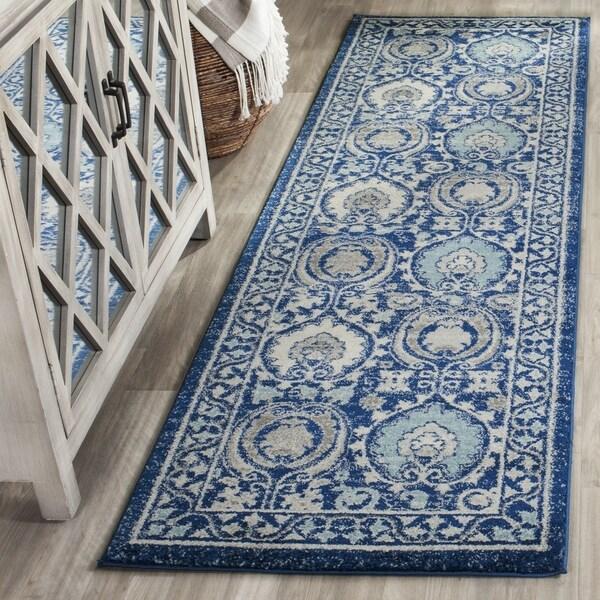 Safavieh Evoke Vintage Blue/ Ivory Distressed Rug (2' 2 x 7')