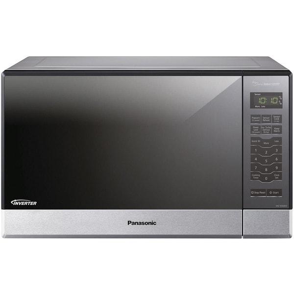 Panasonic Nn Sn686s 1 2 Cubic Foot 1200 Watt Genius Sensor Microwave Oven With