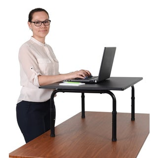 Luxor STAND-SD32 Black Finish Wood and Metal Standing Desk