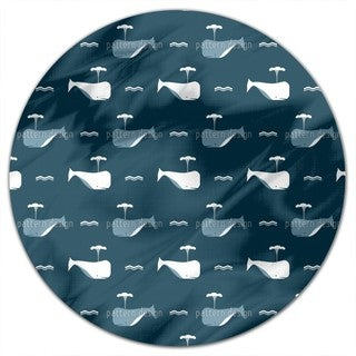 Whale Ahead Round Tablecloth