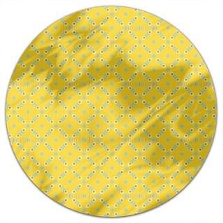 Scandinavian Retro Flowers Round Tablecloth