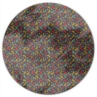 Autumn Of Paisley Mix Round Tablecloth