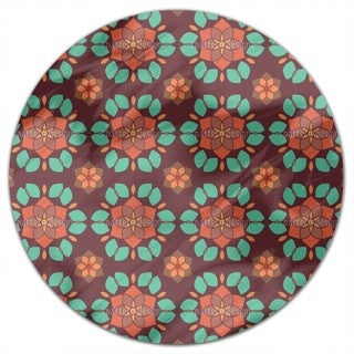 Lotus Flower Retro Round Tablecloth