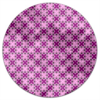 Crossing Squares Round Tablecloth