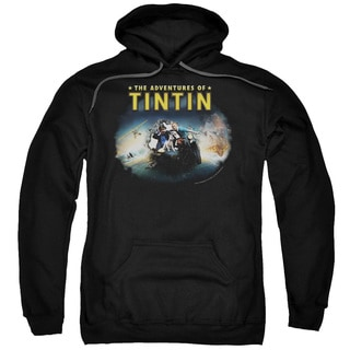 Tintin/Journey Adult Pull-Over Hoodie in Black