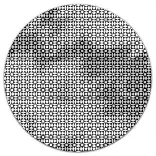 Black Diamond Illusion Round Tablecloth