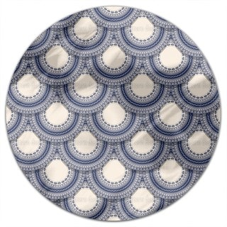 Romanian Folk Round Tablecloth
