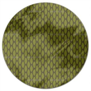 Large Leaves Round Tablecloth