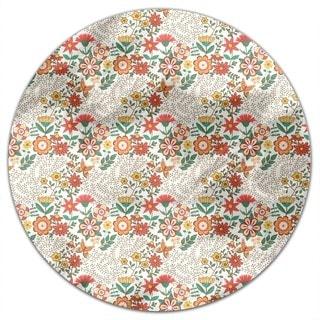 Flower Garden Round Tablecloth