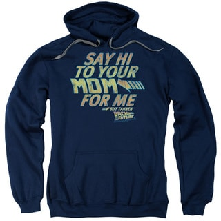 Back To The Future/Say Hi Adult Pull-Over Hoodie in Navy