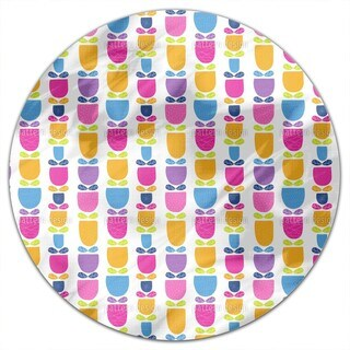Stitched Tulips Round Tablecloth