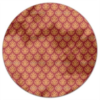 Indian Damask Round Tablecloth