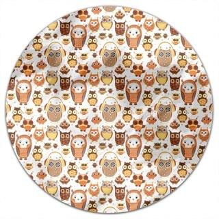 Autumn Owls Round Tablecloth