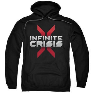 Infinite Crisis/Logo Adult Pull-Over Hoodie in Black