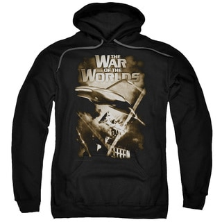 War Of The Worlds/Death Rays Adult Pull-Over Hoodie in Black