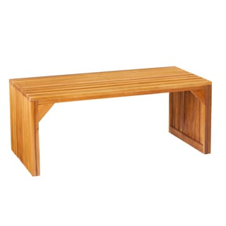 Harper Blvd Natural Slatted Bench/ Table