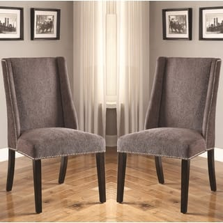 Decatur Wing Back Design Grey Upholstered Chairs with Nailhead Trim (Set of 2)|https://ak1.ostkcdn.com/images/products/11861024/P18761079.jpg?impolicy=medium