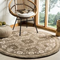 Safavieh Handmade Bella Brown/ Taupe Wool Rug - 5' Round