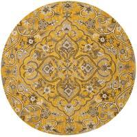 Safavieh Handmade Bella Gold/ Taupe Wool Rug - 5' Round