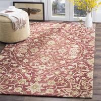 Safavieh Handmade Bella Rose/ Taupe Wool Rug - 5' x 5' square