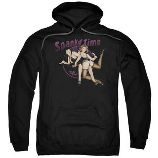 Bettie Page/Spanky Time 2 Adult Pull-Over Hoodie in Black