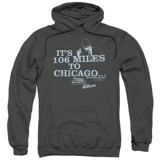 Blues Brothers/Chicago Adult Pull-Over Hoodie in Charcoal