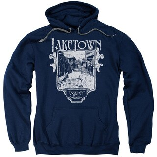 Hobbit/Laketown Simple Adult Pull-Over Hoodie in Navy