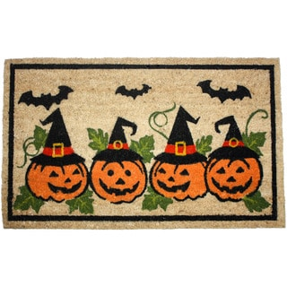 J & M Home Fashions Multicolored Halloween Pumpkins Doormat
