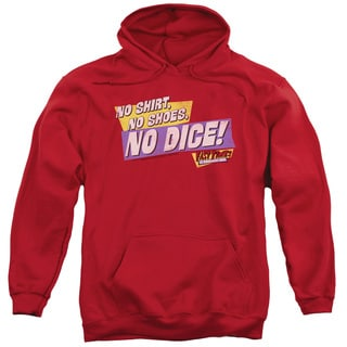 Fast Times Ridgemont High/No Dice Adult Pull-Over Hoodie in Red