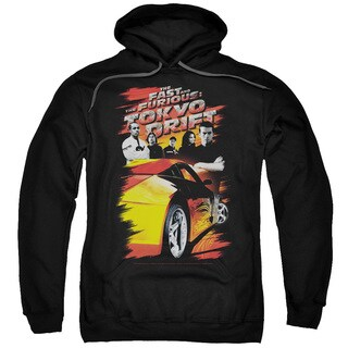 Tokyo Drift/Drifting Crew Adult Pull-Over Hoodie in Black