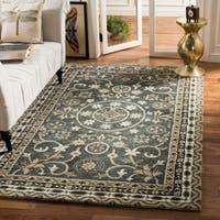 Safavieh Handmade Bella Grey/ Taupe Wool Rug - 5' Round