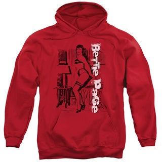 Bettie Page/Shake It Adult Pull-Over Hoodie in Red